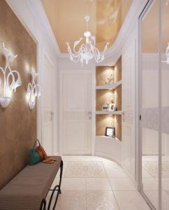 декоративные светильники в прихожей