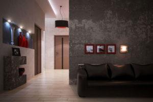 декорирование стен в коридоре