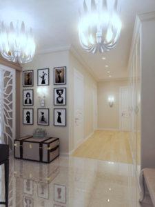 дизайнерские светильники в коридоре