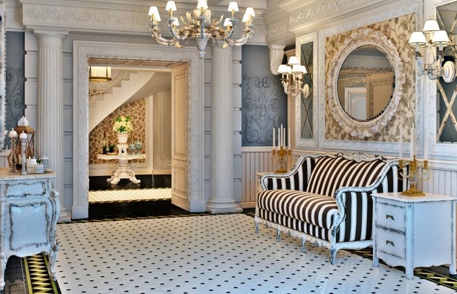 изысканный стиль прованс в интерьере пихожей