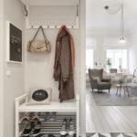 красивая прихожая комната в скандинавском