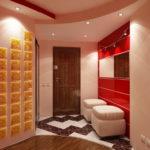 красный цвет в коридоре