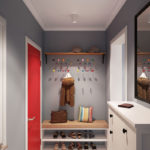 небольшой коридор в современном дизайне