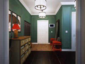 отделка стен помещения в английском стиле