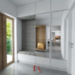 стиль минимализм гостинная-коридор