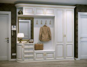 светлая мебель для прихожей