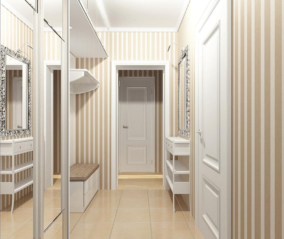 дизайн узкого коридора в стиле модерн