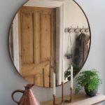 круглое зеркало в кантри