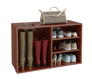 открытая полка для обуви