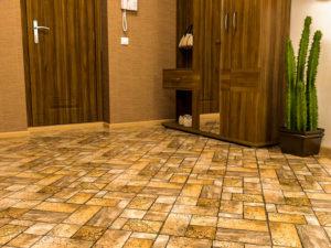 плитка из керамогранита для интерьера прихожей