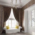 шторы в прихожей в стиле арт-деко