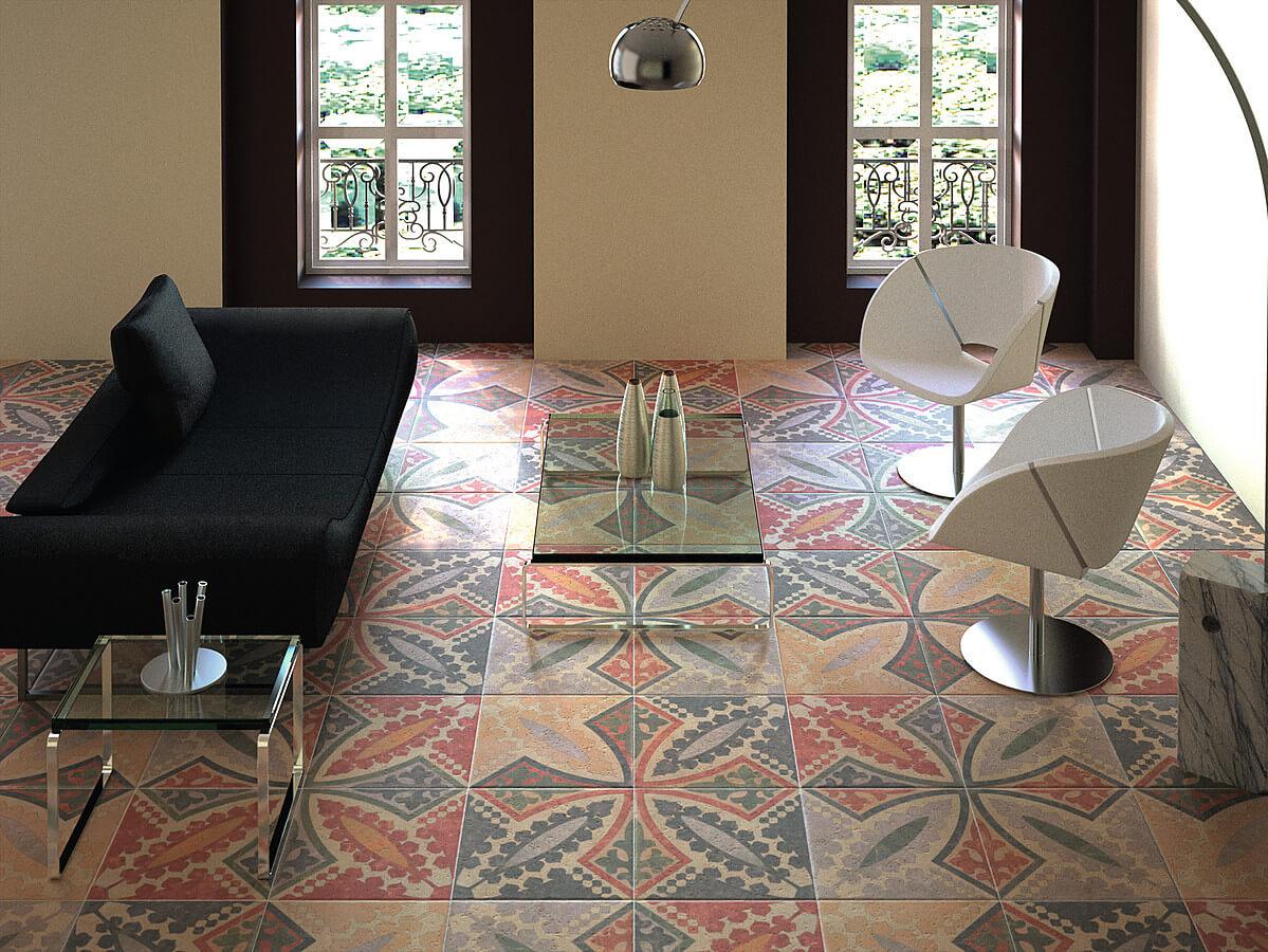 керамическая плитка в дизайнерском интерьере