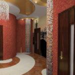 дизайн коридора с жидкими обоями