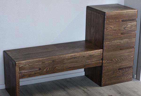 деревянная банкетка