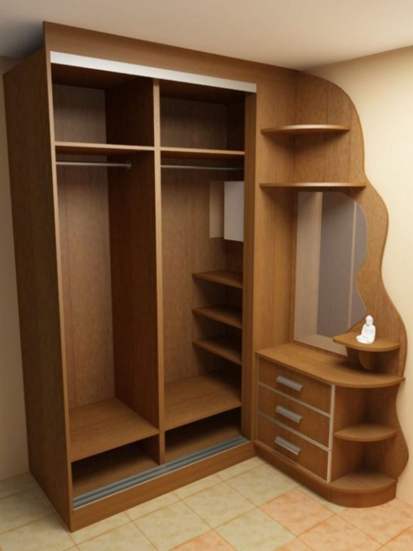шкаф цвета орех