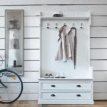 Чертеж напольной вешалки для одежды из дерева