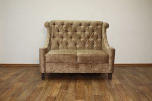 диван в прихожую из замши