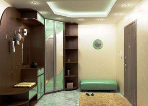 дизайн углового шкафа