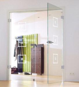двери из стекла в прихожую
