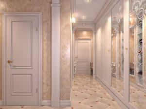 фото распашных дверей в прихожей