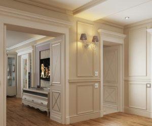 классический стиль дверей в прихожую