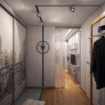 коридор с красивым шкафом купе