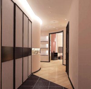 коридор с шкафом-купе