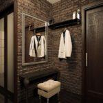 минимализм в стиле лофт в маленьком коридоре