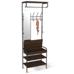 напольная вешалка с зеркалом