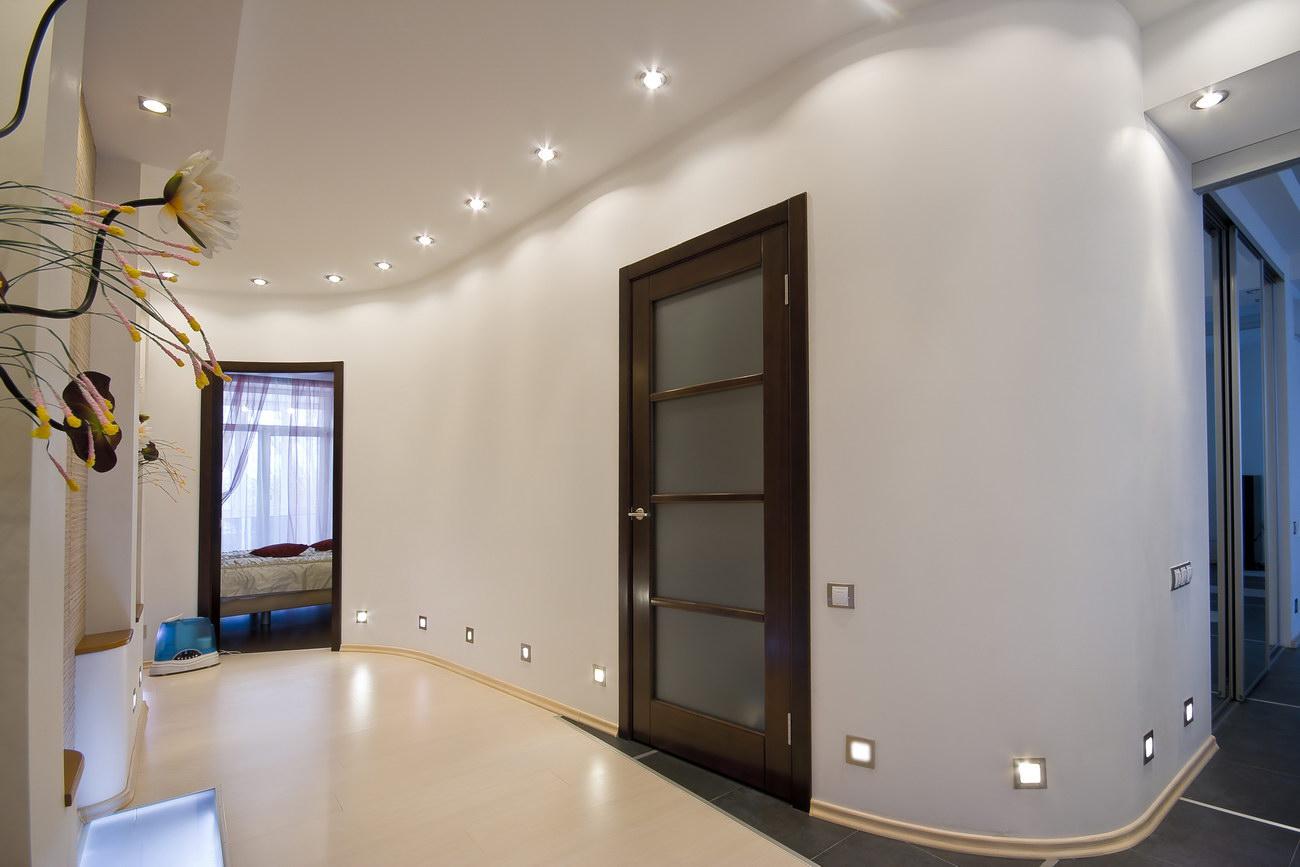настенные светильники в коридоре