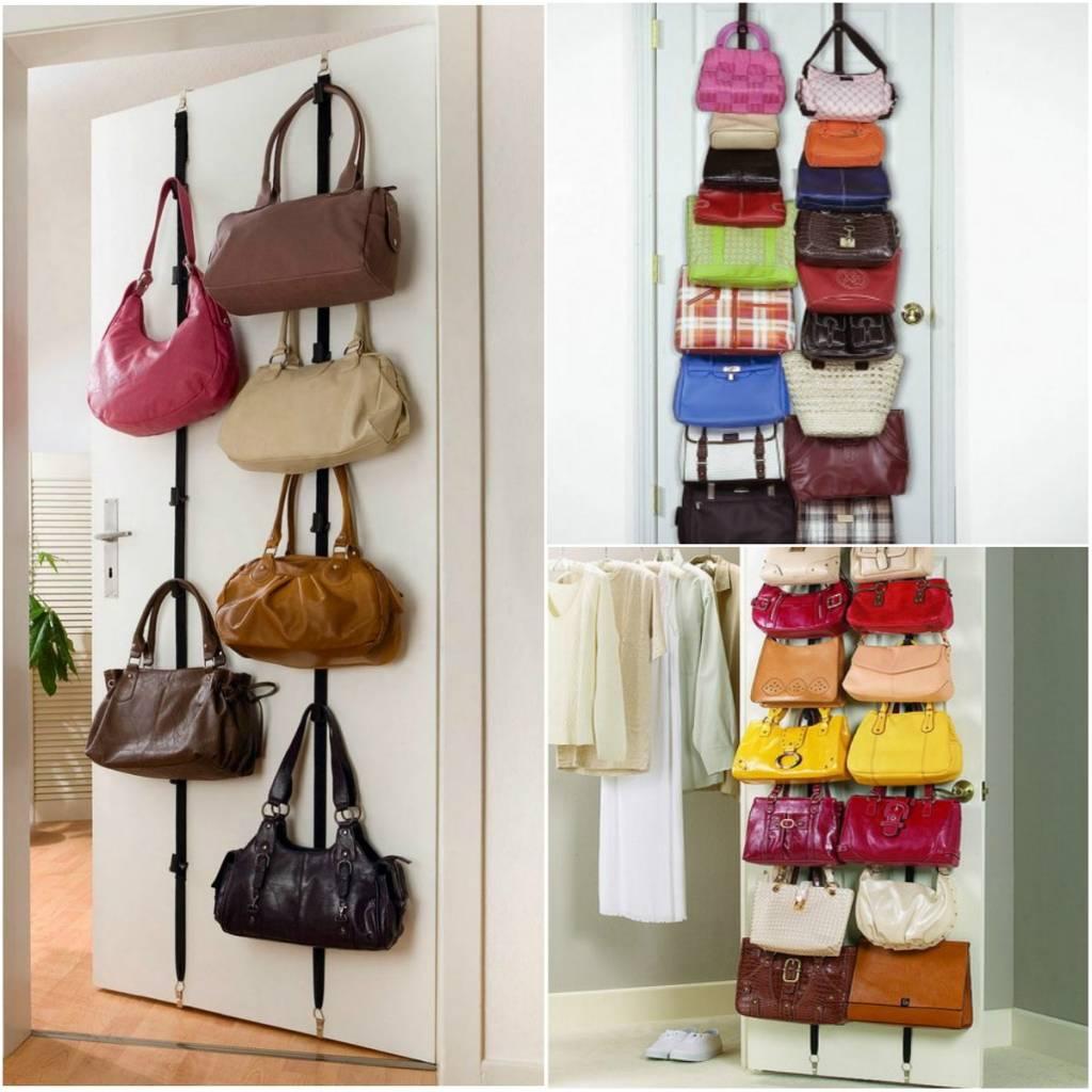 размещение сумок в прихожей