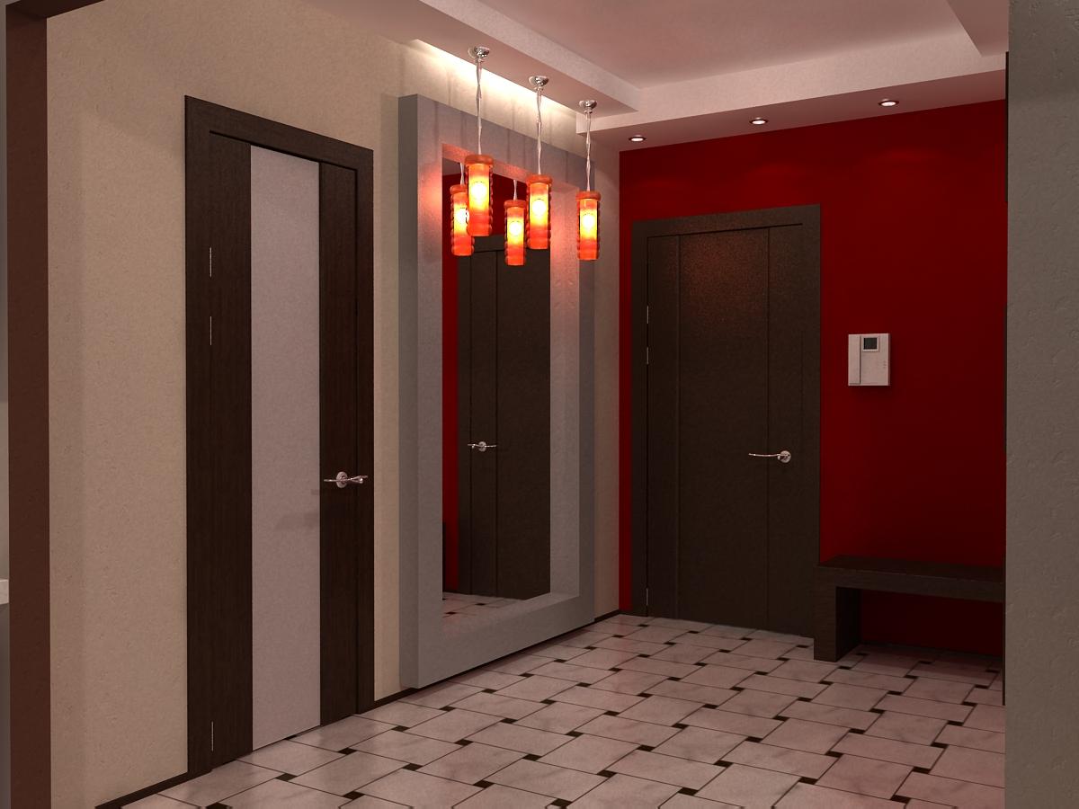 коридор красный фото свет