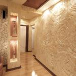 стена с рисунком жидкими обоями
