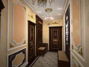 стиль барокко для дверей в прихожую