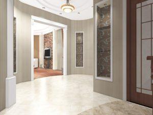 светлый коридор в квартире