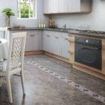 зонирование на кухне плиткой