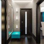 Стильный дизайн интерьера узкой и маленькой прихожей