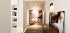 коридор с оригинальной подсветкой