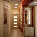 Вариант дизайна узкой прихожей в светлых тонах и стиле лофт