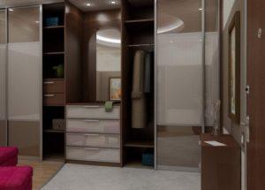 шкаф с матовыми дверцами