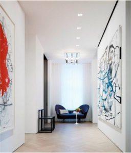 декор стен абстрактными картинами
