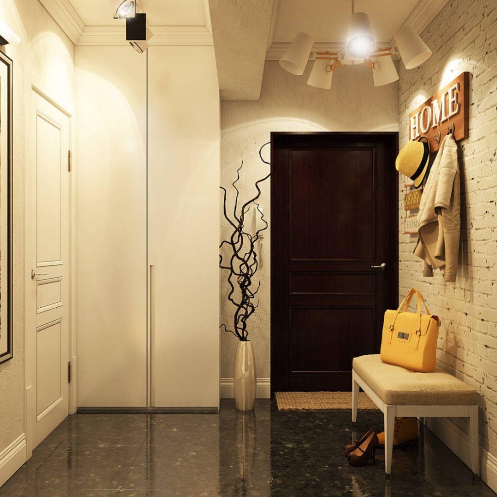 оформление маленького коридора