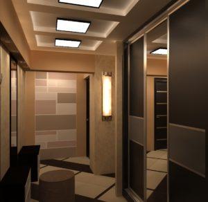 дизайн коридора в стиле минимализм