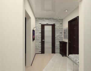 дизайн стен в узком коридоре