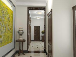 дизайнерское оформление коридора