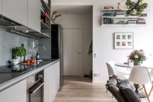 фото кухни-прихожей в квартире