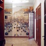 Интересные фото обои в коридоре