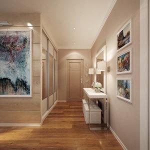 картины в рамка в коридоре