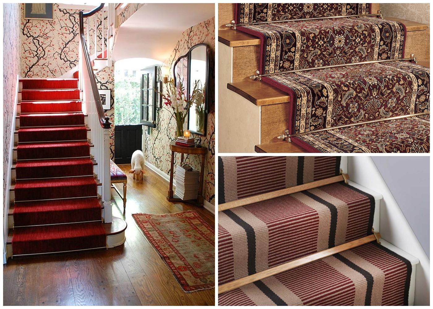 лестница с ковром