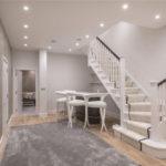 лестница с застеленными ступеньками
